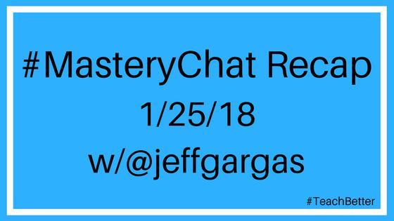 #masterychat recap 1-25-18