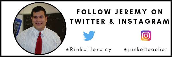 Image with Jeremy Rinkel's picture and Twitter and Instagram handles